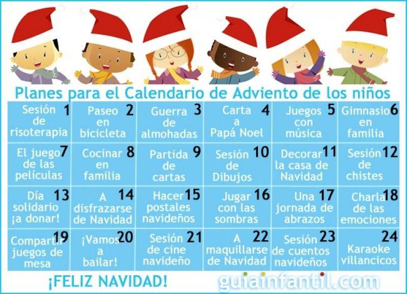 Calendario De Adviento Con Originales Planes Para Hacer Con Niños Calendarios De Adviento De Navidad Calendario De Adviento Calendario Para Niños