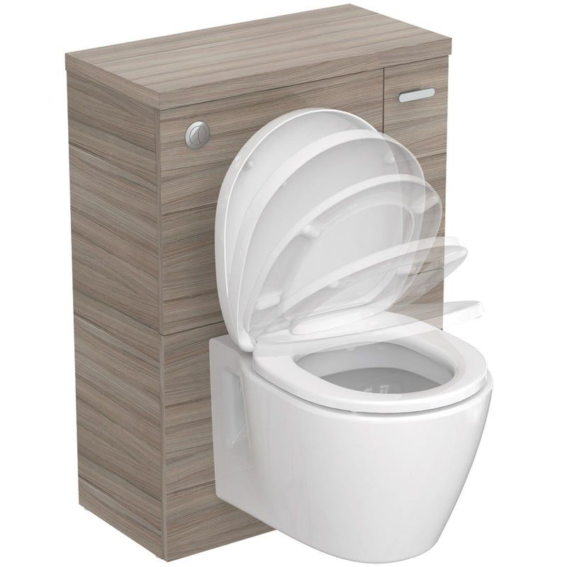 Peachy Ideal Standard Concept Space Elm Unit With Wall Hung Toilet Bralicious Painted Fabric Chair Ideas Braliciousco