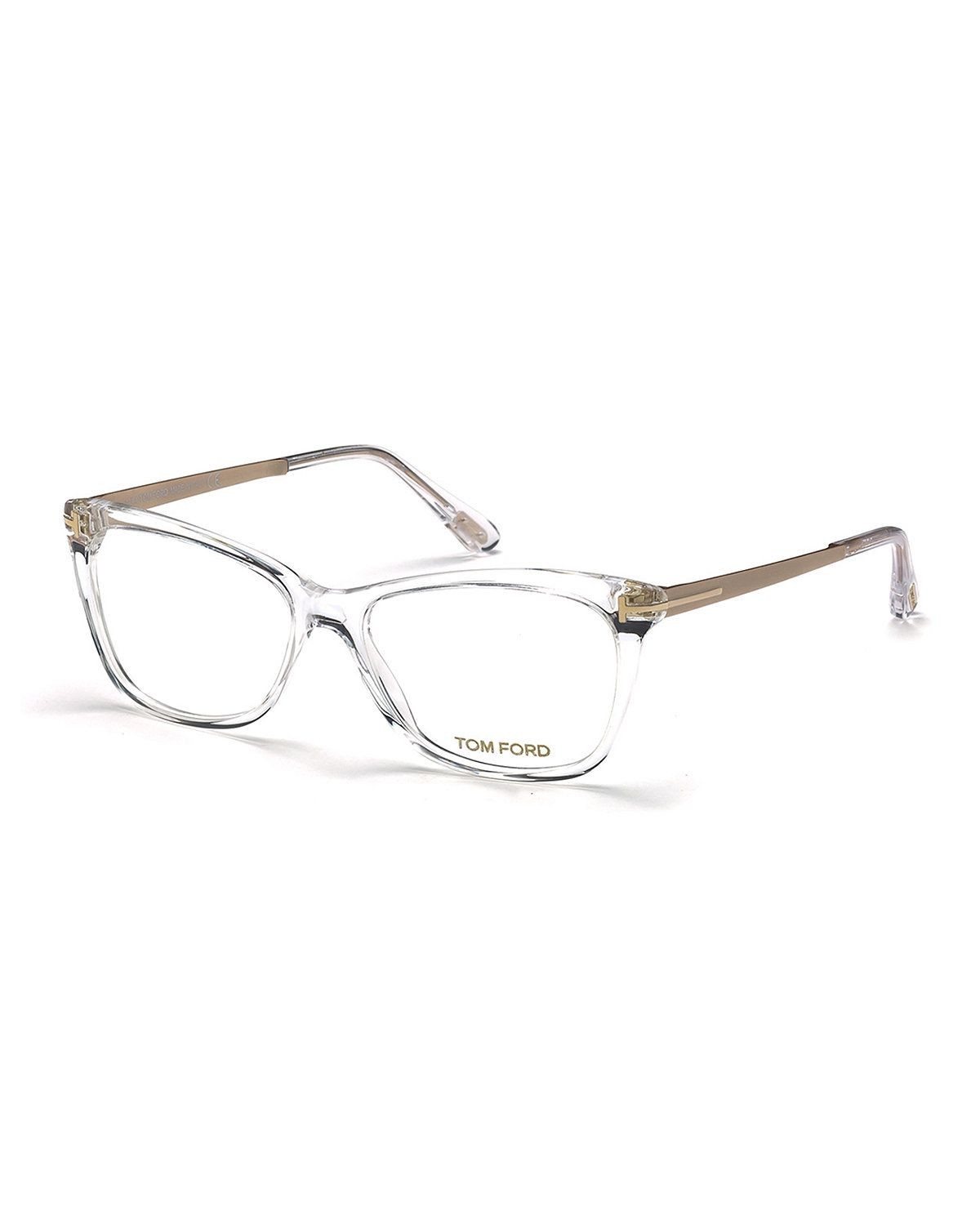 TOM FORD Slight Cat-Eye Fashion Glasses ( 450) ❤ liked on Polyvore  featuring accessories, eyewear, eyeglasses, brown, clear glasses, … ee0cdd3aff