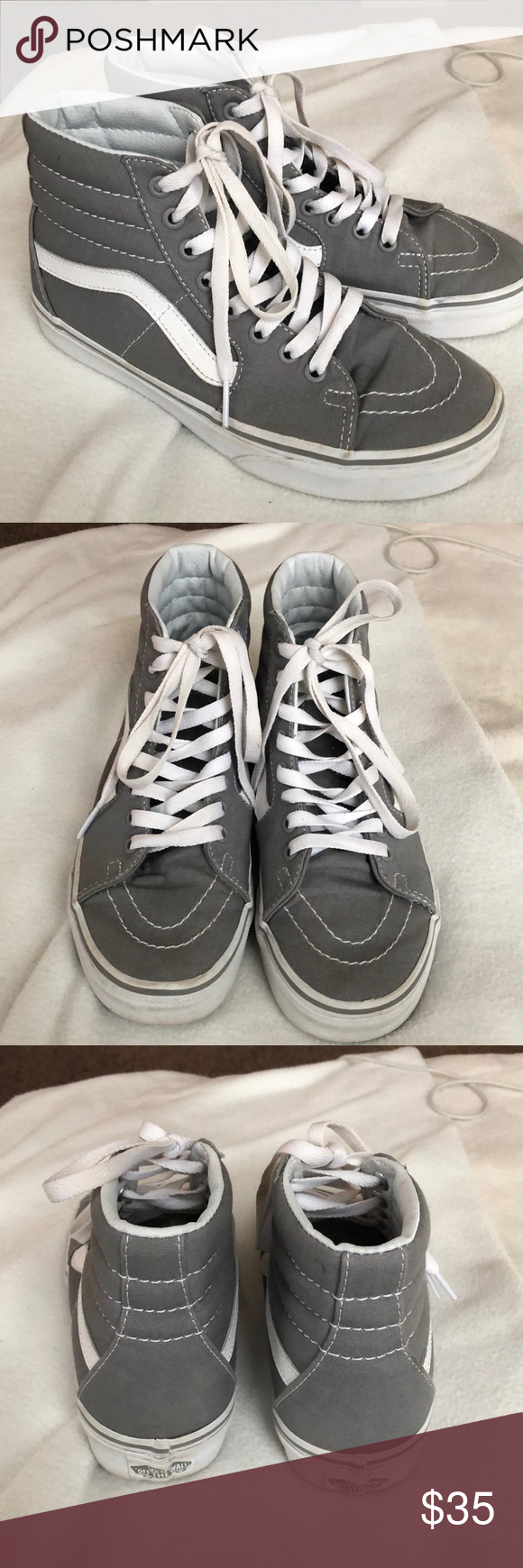9552fc2a46 Old Skool Vans (high tops) -light grey color -only worn a few times -fairly  new -Very good condition! Vans Shoes Sneakers