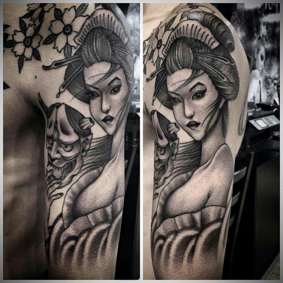Geisha tattoo elegant geisha tattoo picture - Geisha Tattoos Amazing Tattoos Tattoo Ideas Geishas Mens Tattoos Tattoos Forever Tattoo Incredible Tattoos Awesome Tattoos