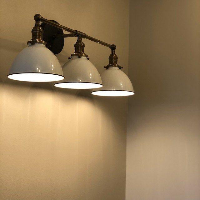 Photo of Farmhouse Vanity – 3 shade Fixture – Farmhouse Lighting – Rustic Lighting – Bathroom Vanity – Industrial Lighting – Model No. 0085
