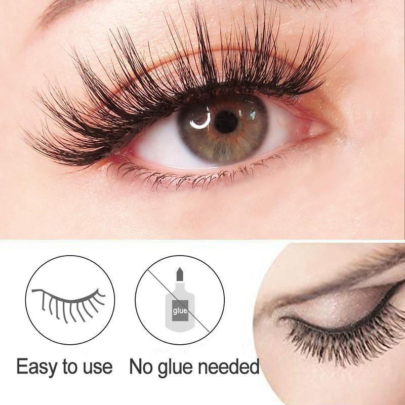 Reusable SelfAdhesive Natural Curly Eyelashes Fiber