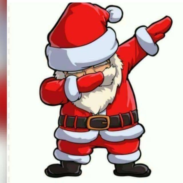 Dabbing Santa Weihnachtsmann Nikolaus