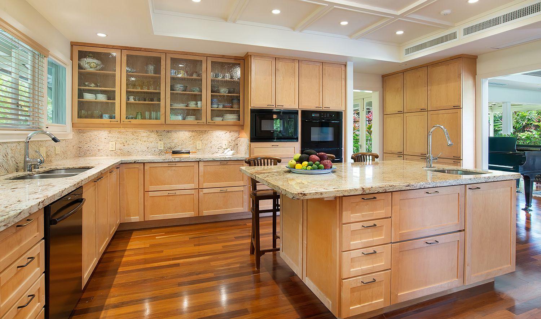 Extraordinary Hawaii Home Diamond Head Hideaway Hawaii Homes Natural Stone Countertops Home Kitchens