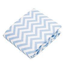 Blue Chevron Kushies Baby Deluxe Change Pad