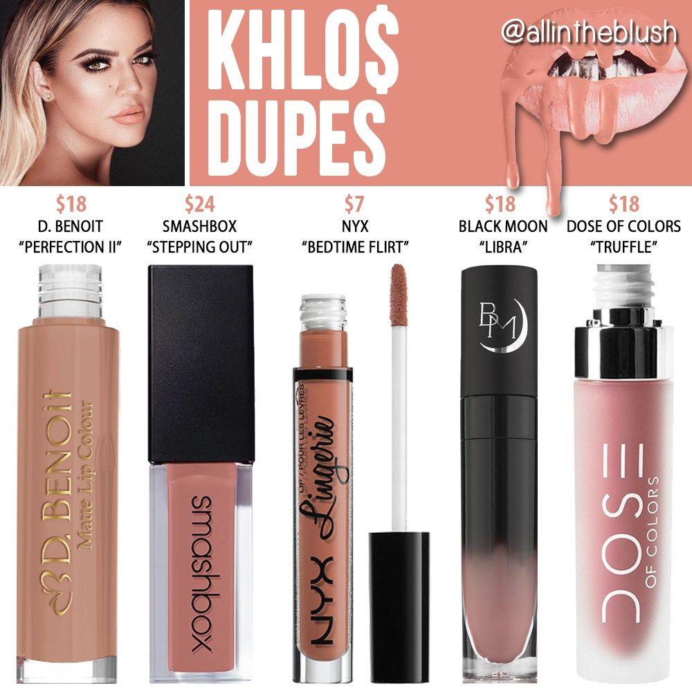 Kylie Cosmetics Khlo Liquid Lipstick Dupes (Koko