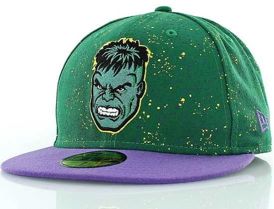 087e9ef22bc74 MARVEL x NEW ERA「Speckle Hulk」59Fifty Fitted Baseball Cap