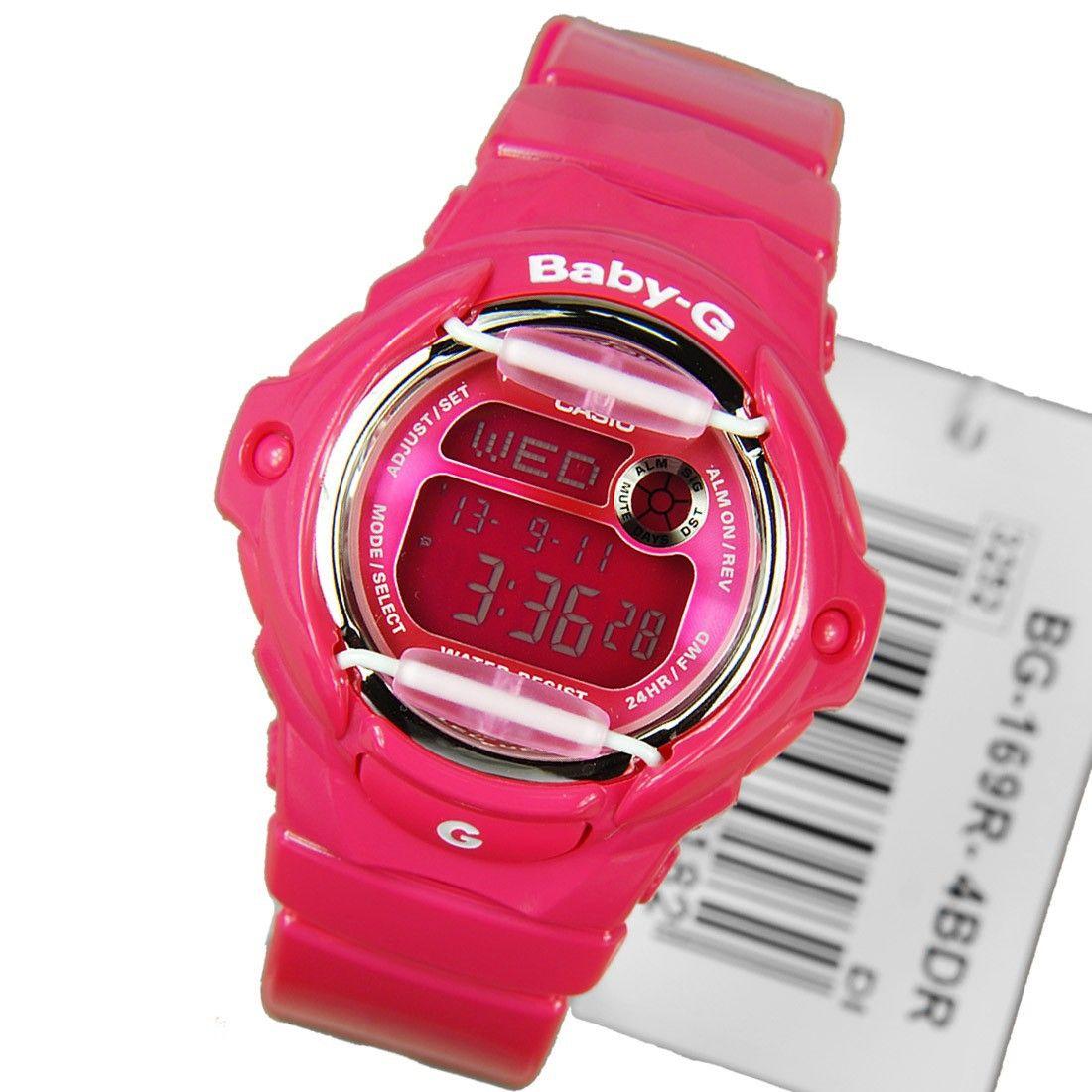 Casio Baby G Quartz World Time Alarm Sports Ladies Watch Bg 169r