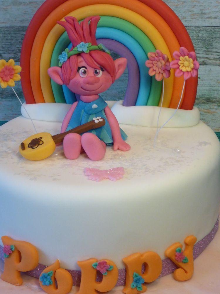Princess poppy trollrainbowhandmadepersonalised