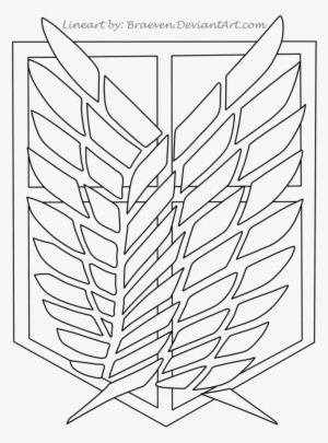 Photo of Scouting Legion Patch Lineart By Braeven – Attack On Titan Logo Drawing – Free PNG Download – PngKit