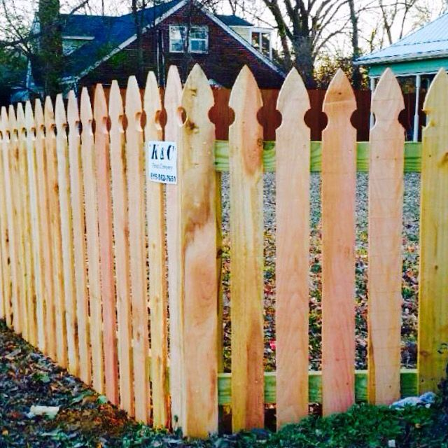 Fence gothic picket fence installed in Nashville TN by K\C fence