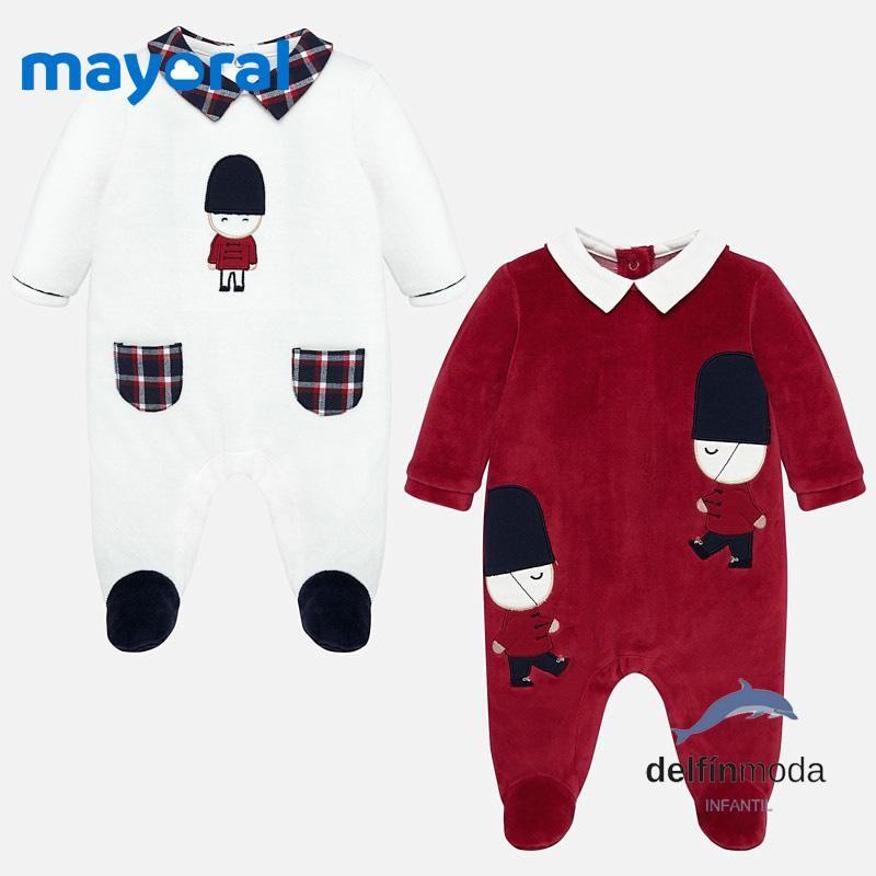 Set De Dos Pijamas Terciopelo Mayoral Para Bebe Nino