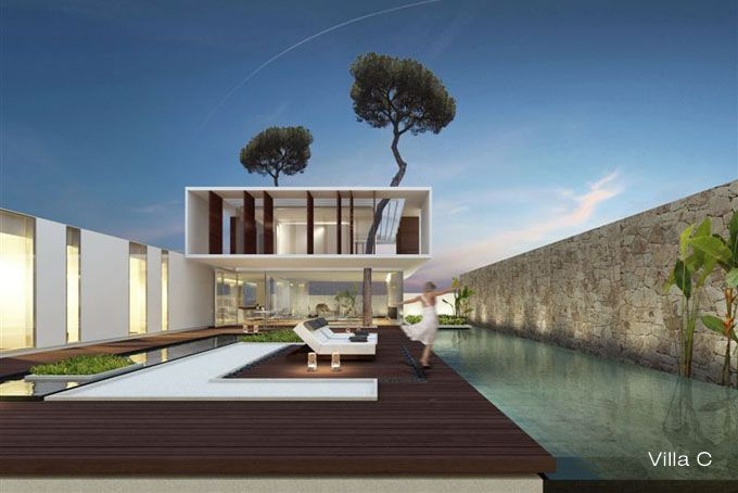 Jesolo lido pool villas by jm architecture arquitetura for Casa moderna jesolo