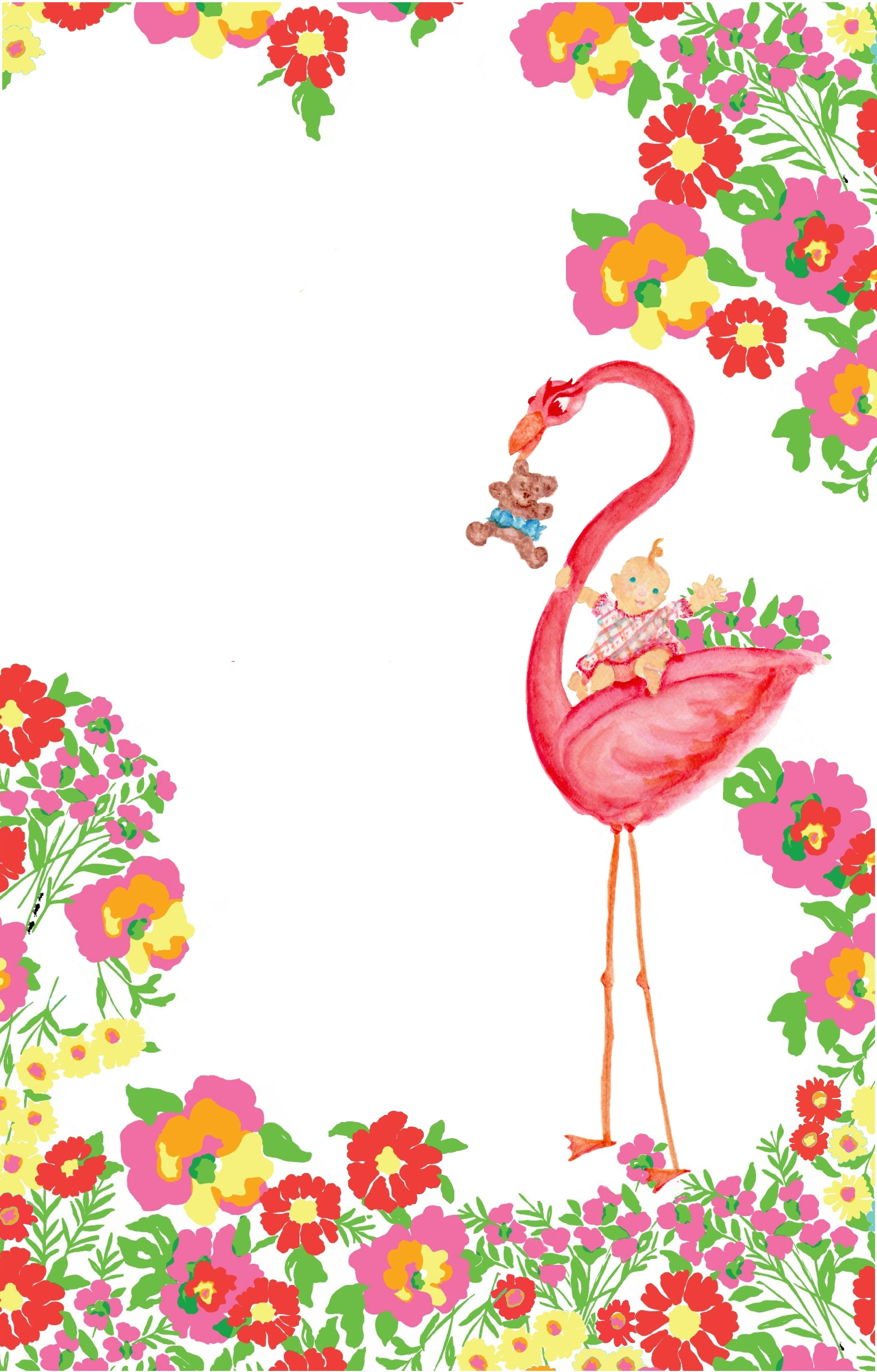 My Baby Shower Invitation Design Watercolor Flamingo With A Lily Pulitzer Summer Fl Print