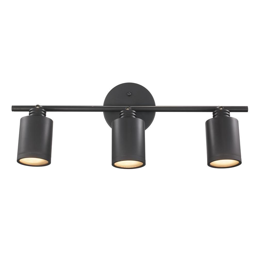Bel Air Lighting Holdrege 1.8 ft. 3-Light Rubbed Oil Bronze Track Lighting  Kit