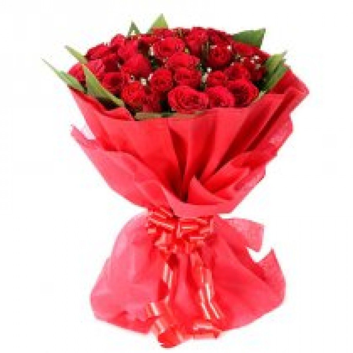 A bunch of 25 red roses online flowers delivery in mumbai a bunch of 50 red roses wrapped in red non woven paper find this pin and more on online flowers delivery in mumbai izmirmasajfo