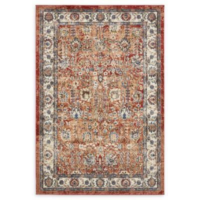 Arcadia 4 X 6 Area Rug In Terracotta Area Rugs Floral Area