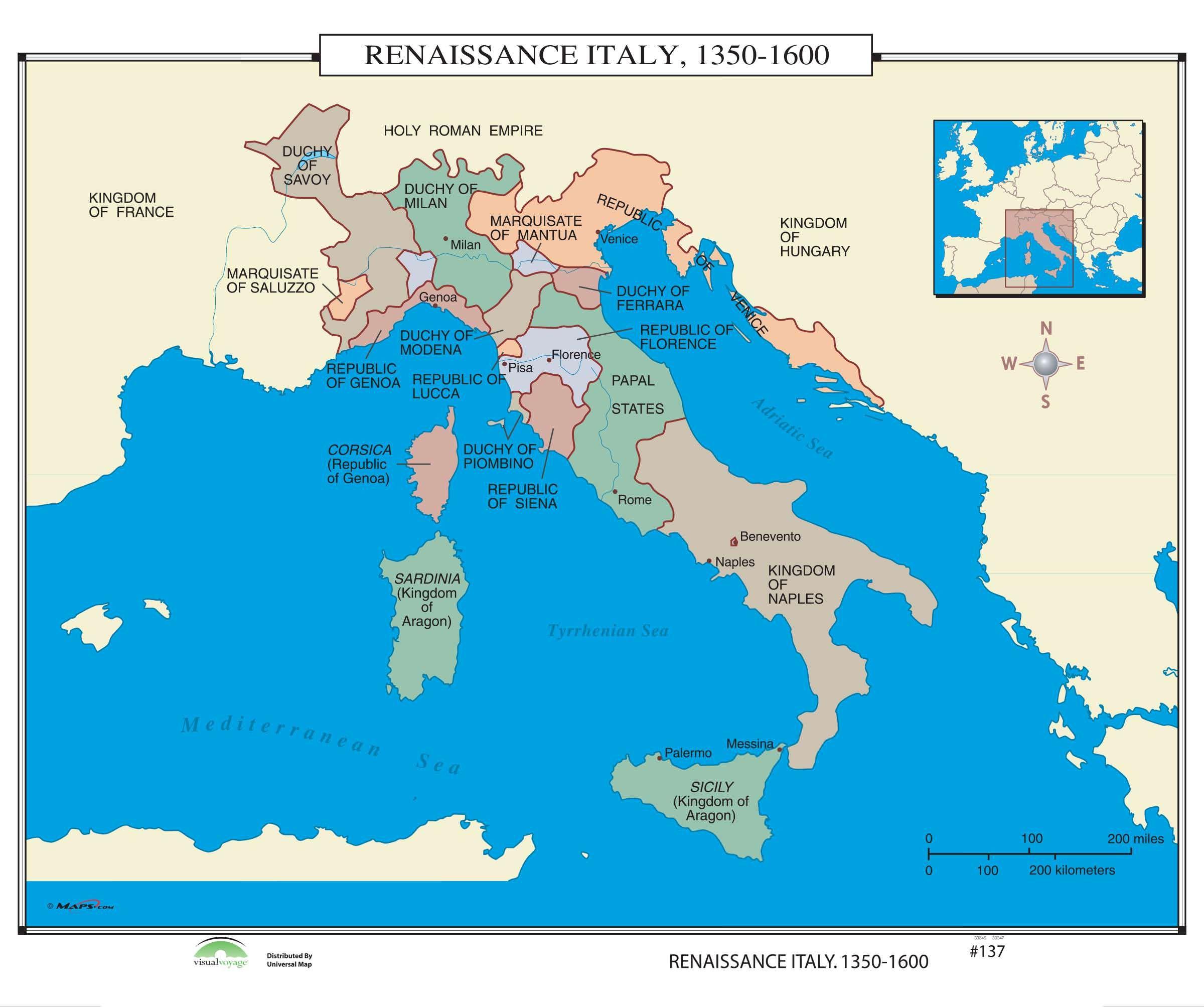 Renaissance Italy Map The Italian Renaissance Italy Map