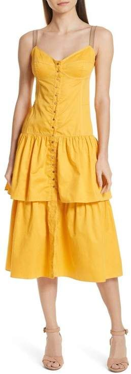 See By Chloe   See by Chloe Tiered Bustier Dress #seebychloe