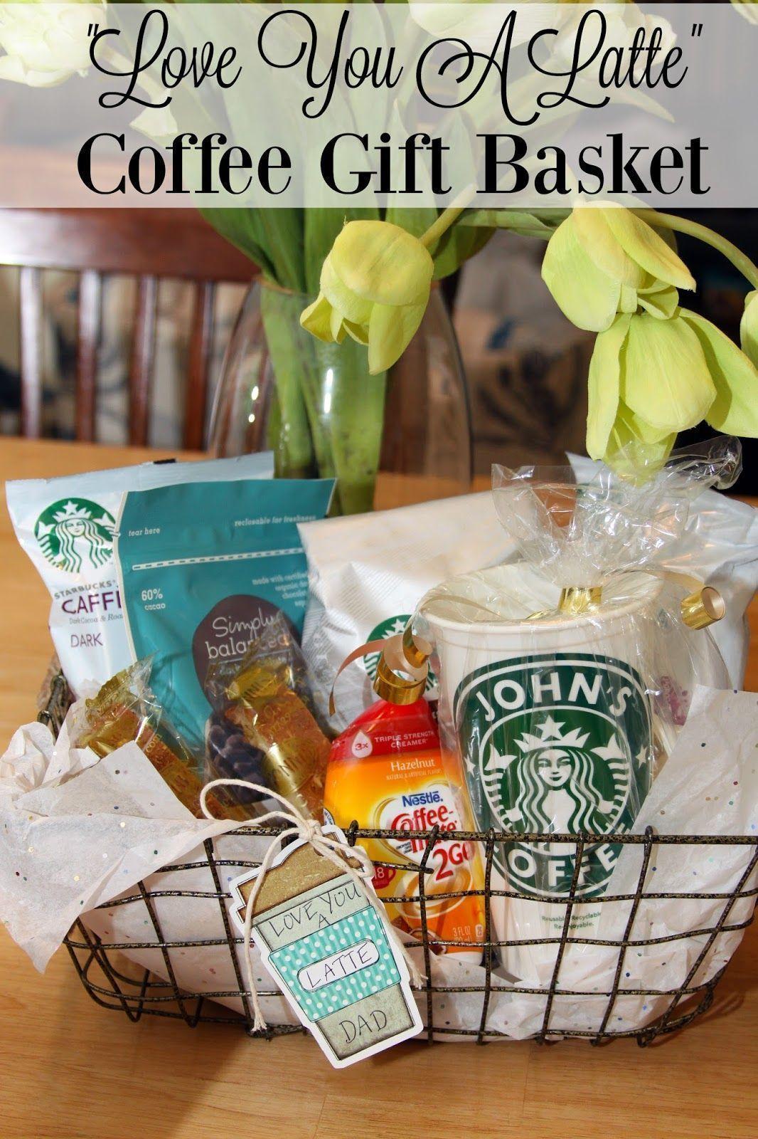 ninja coffee bar and love you a latte gift basket | coffee lovers