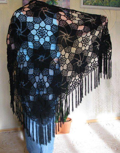 Mis Pasatiempos  Amo el Crochet: Chal de motivos