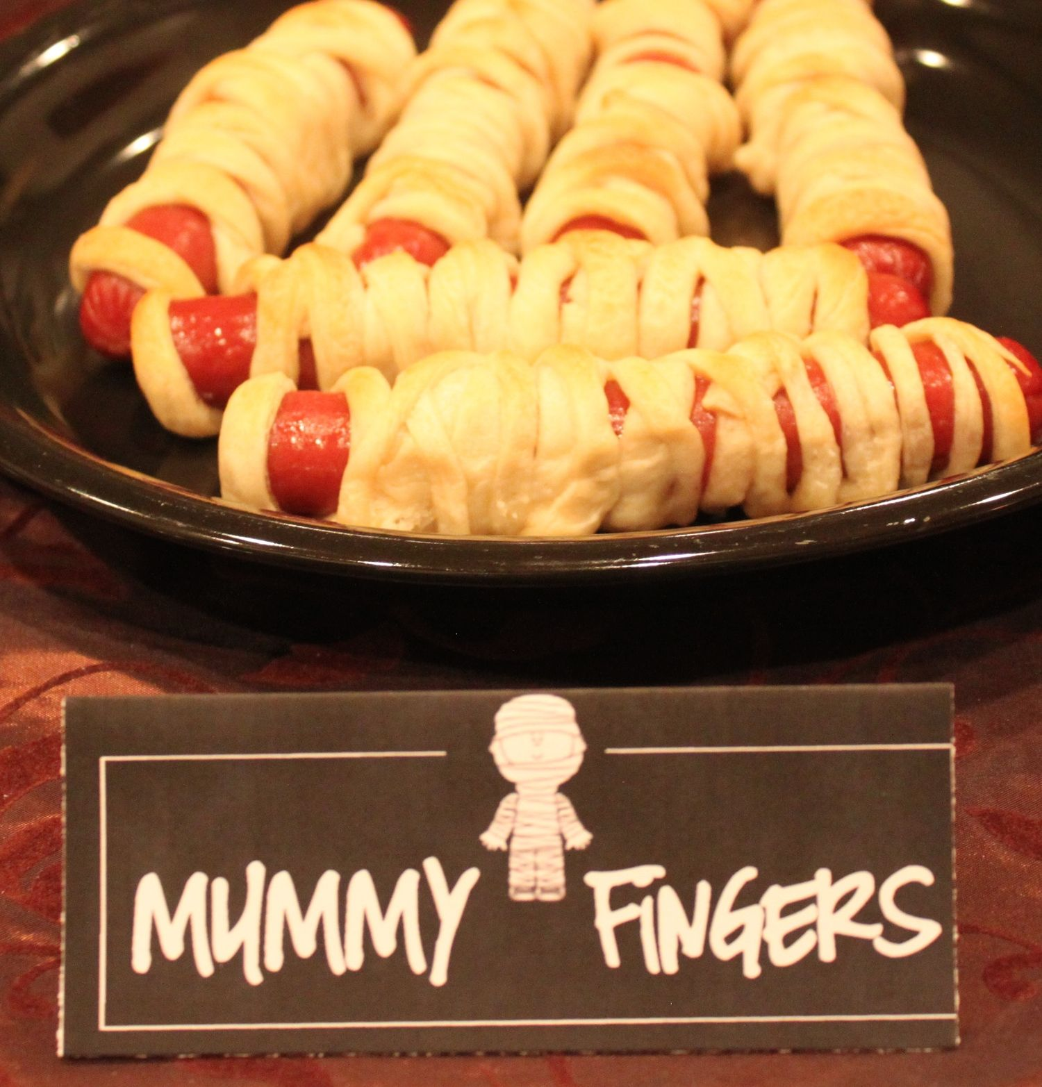 Mummy fingers (or just mummies) are an easy fun finger food for ...