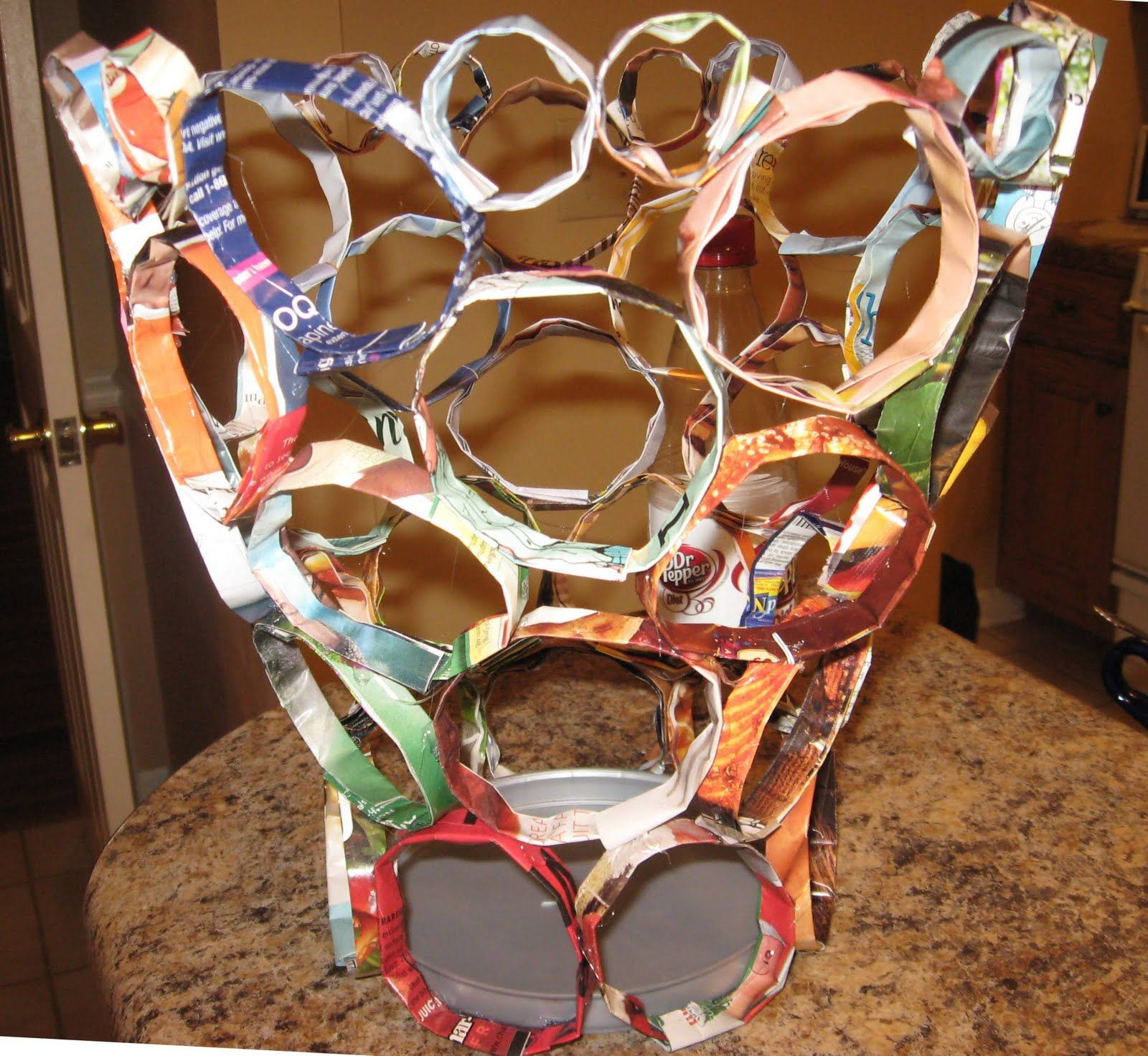 Art projects for teens creative recycled projects for Easy recycling ideas