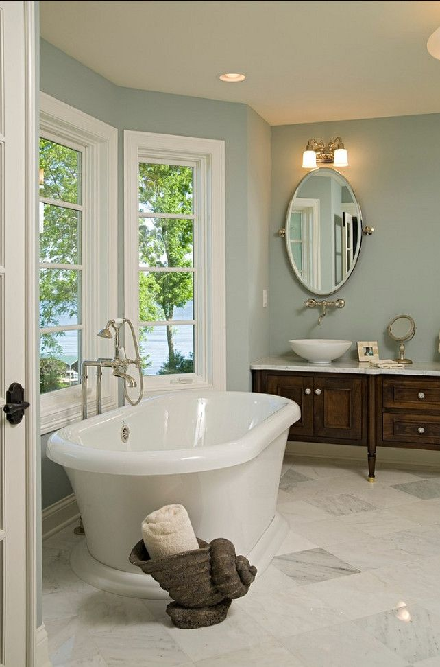 25 luxurious marble bathroom design ideas benjamin moore for Bathroom color ideas blue