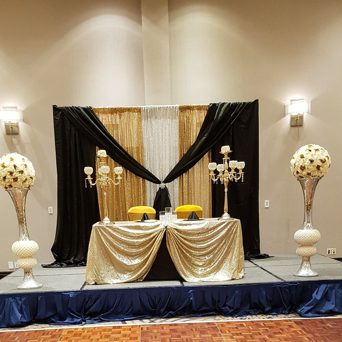 Gold And Black Backdrop Black White Gold Party Black Gold Party Gold Backdrop