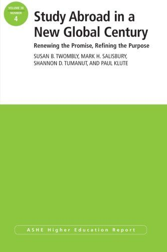 Study Abroad in a New Global Century: Renewing the Promise, Refining the Purpose, ASHE Higher Education Report (Volume 38) by Susan B. Twombly http://www.amazon.com/dp/1118511379/ref=cm_sw_r_pi_dp_60M-ub0PTXY6R