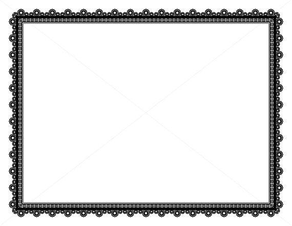 Decorative Frame Page Border Digital Paper