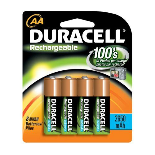 Duracell Rechargeable Aa Nimh Batteries Mignon Hr6 Dc1500 2450mah 8 Count Package Pack Of 2 Duracell Nimh Nimh Battery