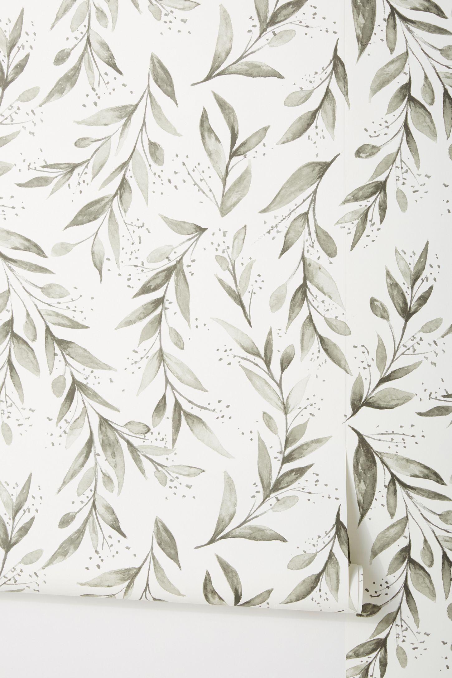 Magnolia Home Olive Branch Wallpaper in 2020 Magnolia