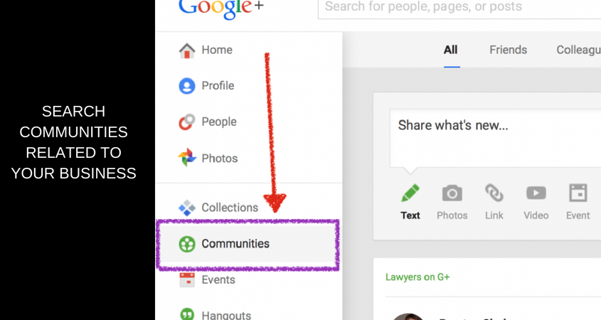 Find Communities related to your business
