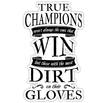 Soccer goalie true champions quote sticker by gamefacegear