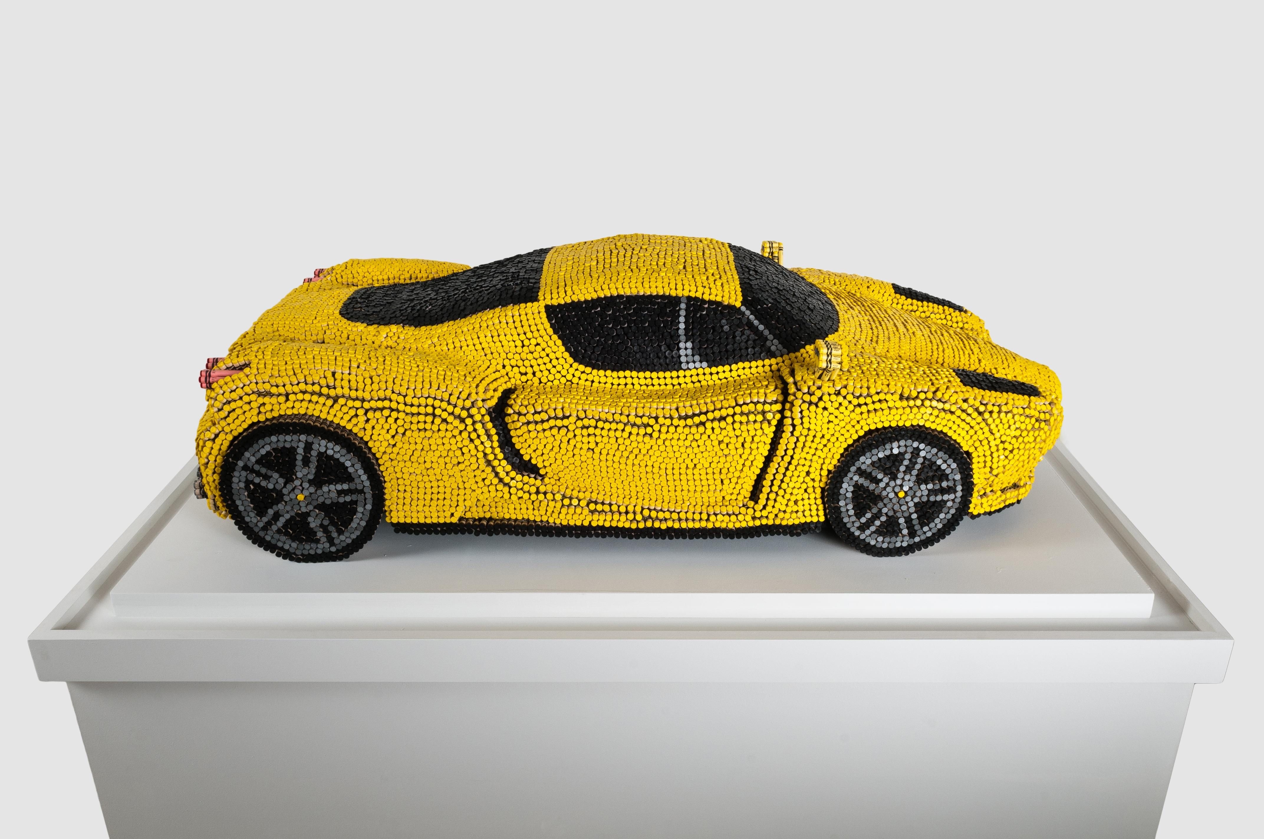 These are shots of a crayon Ferrari ENZO a patron commissioned for the Children's Medical Center in Hartford, CT. I'd like to see this in red.