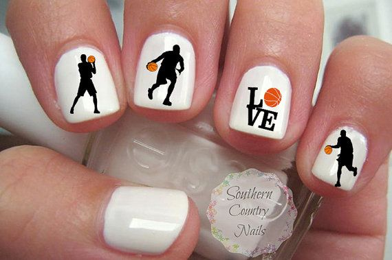 Basketball Nail Art Decals By Southerncountrynails On Etsy