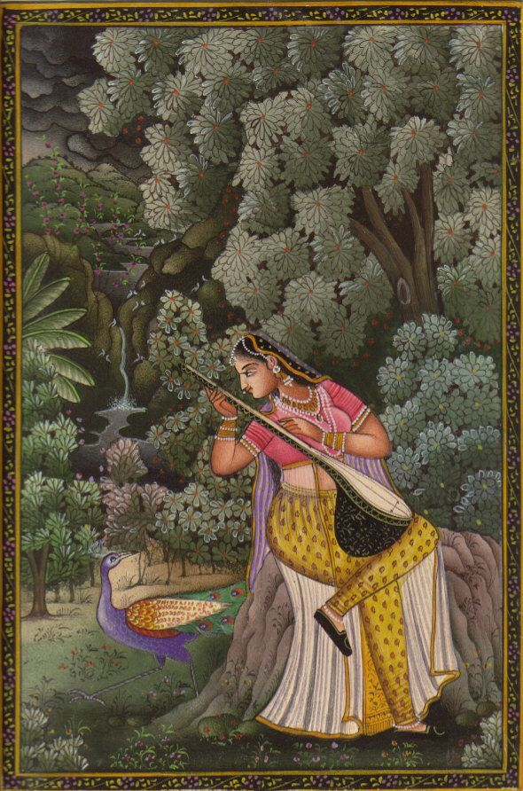 Rajasthan Miniature Ragini | Mughal paintings, Mughal miniature paintings, Rajasthani  art