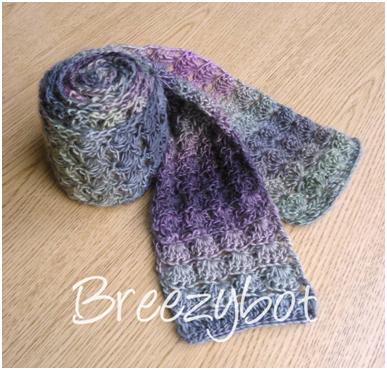 Breezybot Free Pattern Lacy Shell Scarf Crochet Scarf Pattern Free Shawl Crochet Pattern Scarf Crochet Pattern