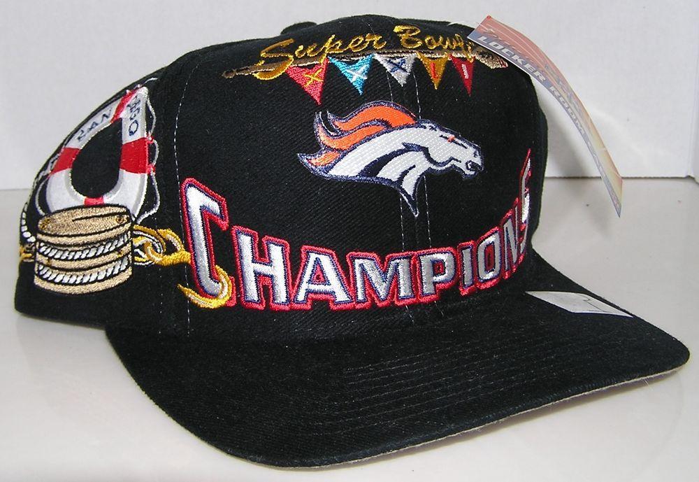 b24b2c318 Denver Broncos Super Bowl XXXII Champions Logo Athletics Locker Room  Snapback  LogoAthletics  DenverBroncos