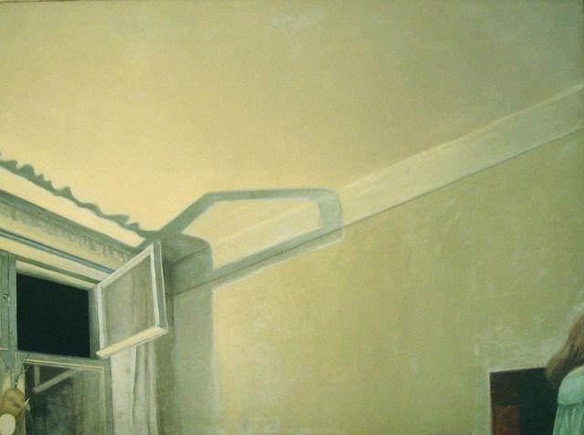 "Ola Billgren ~ ""Interiör"" (1963) Oil on canvas 80 x 108 cm. | Galerie Leger"