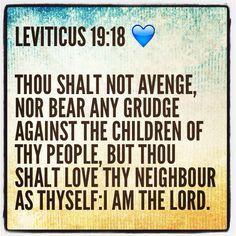 Leviticus 19:18 | Inspiration | Word of god, King james bible