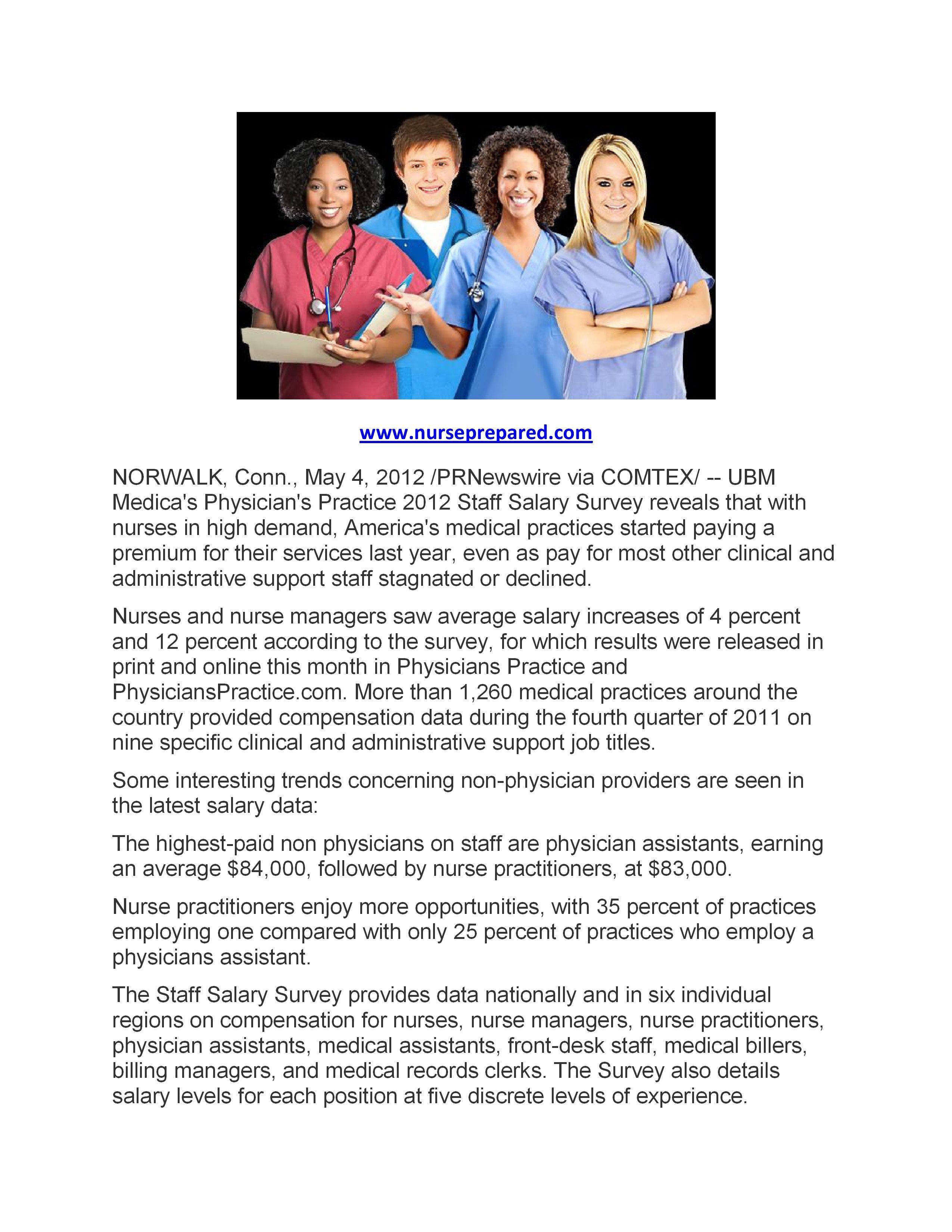 Nursing salaries increase nursing students nurse