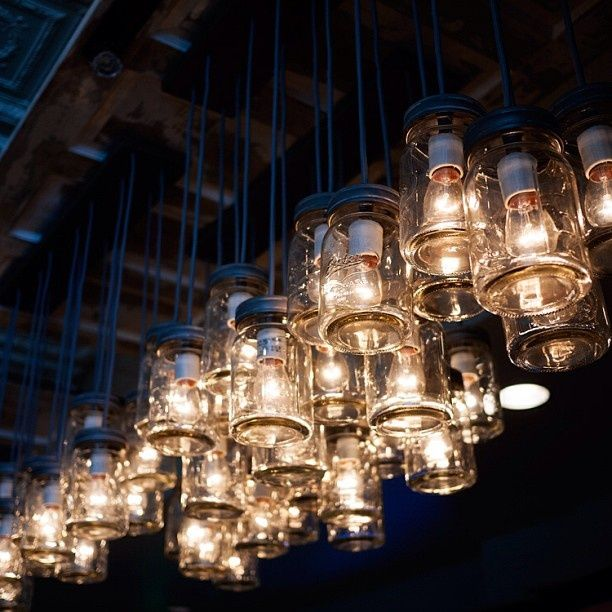 Great use of old mason jars. Love this light!