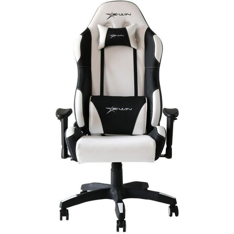 EWin Calling Series White/Black CLC Gaming Chair