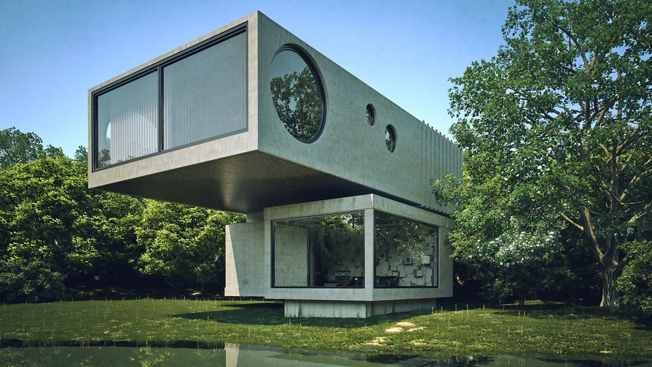 Funky House Part2 Concrete House House Styles House