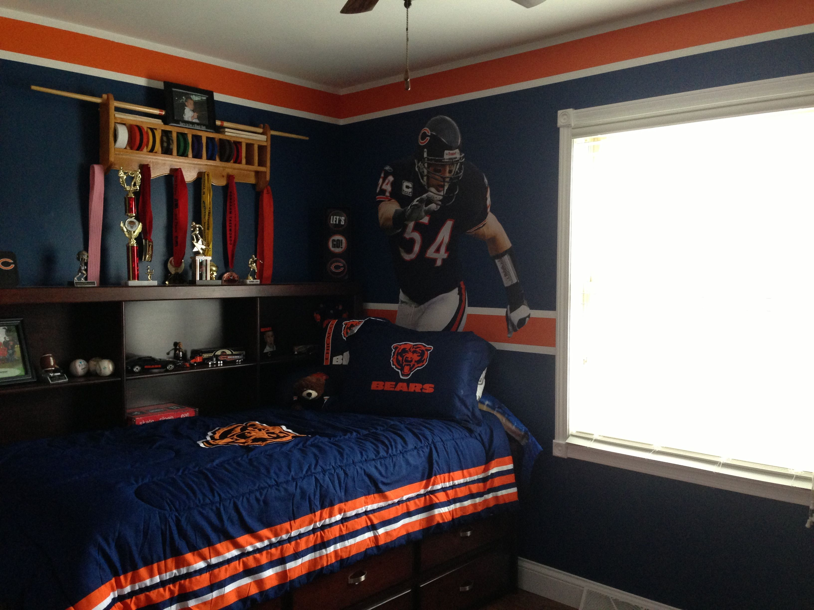 My Son S Chicago Bears Bedroom Room