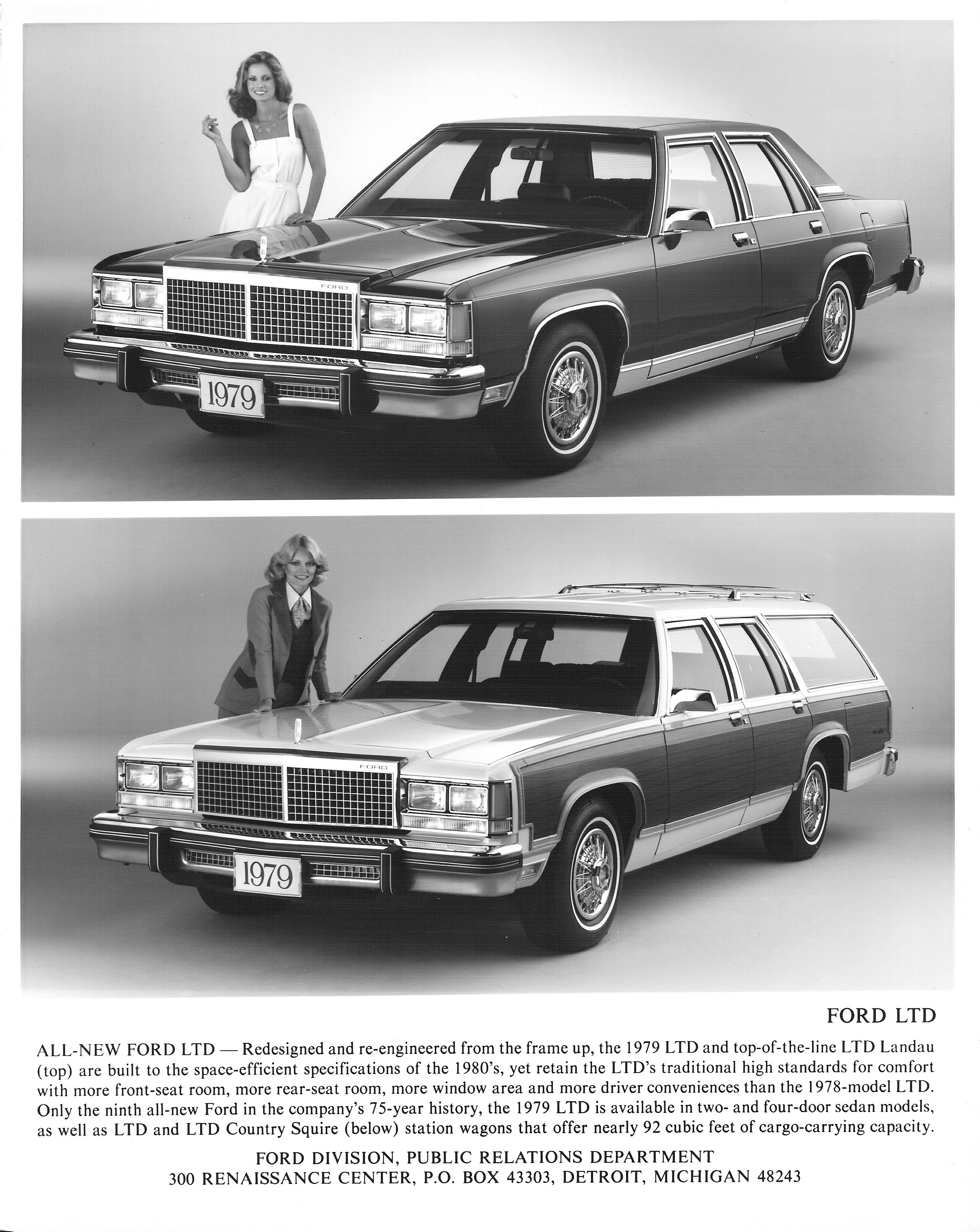 Public Relations Photo ALL-NEW FORD LTD - Redesigned and re ...
