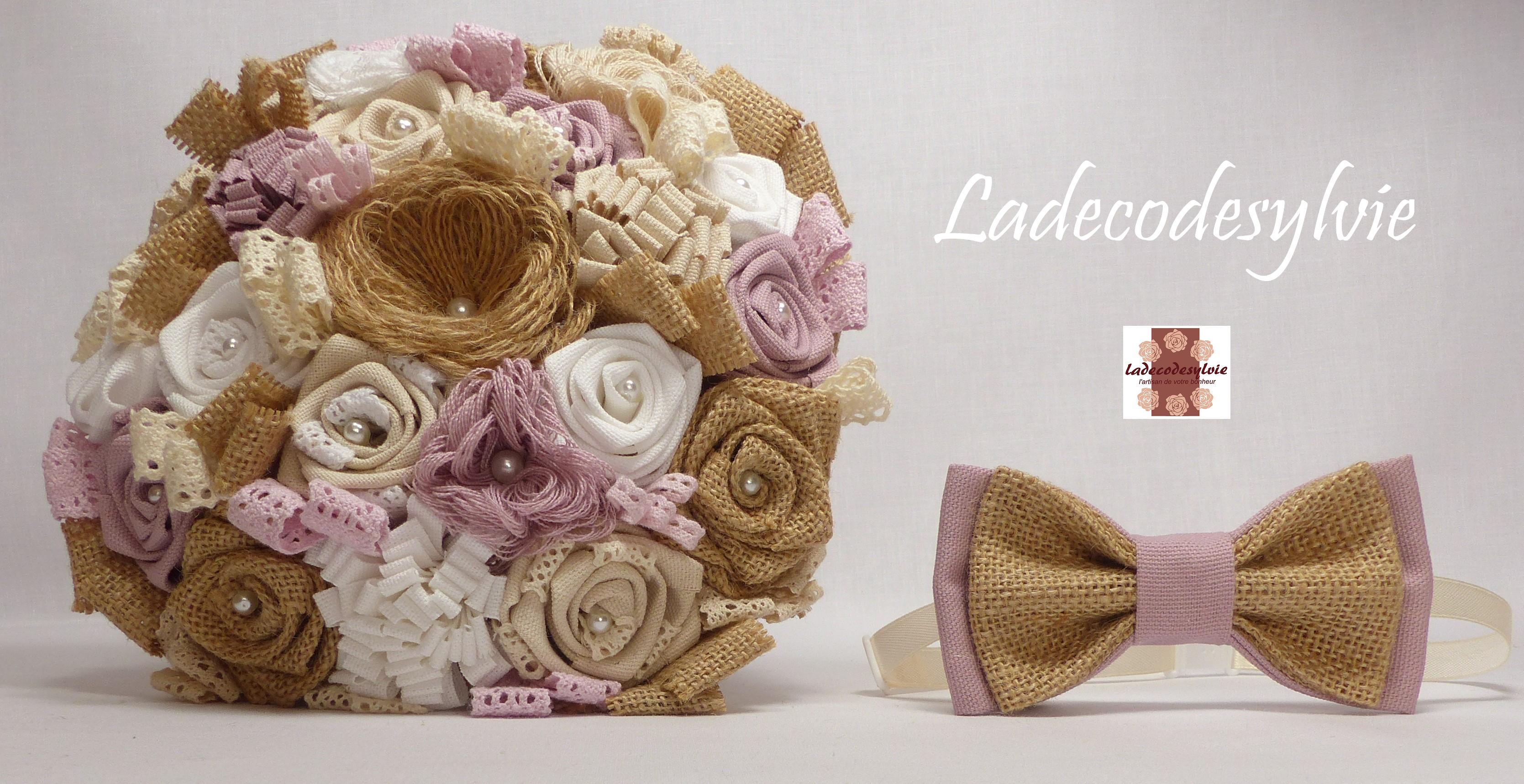 Epingle Sur Bouquet De Mariee En Toile De Jute